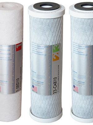 APEC Water Systems Filter-Set US Made Double Capacity Replacement Stage 1-3 for Ultimate Series Reverse Osmosis System…