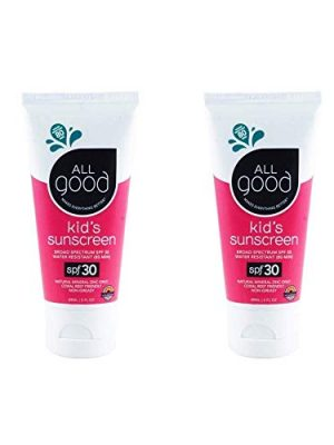 All Good Baby & Kids Sunscreen Lotion for Face & Body – UVA/UVB Broad Spectrum, SPF 30, Zinc Oxide, Coral Reef Friendly…