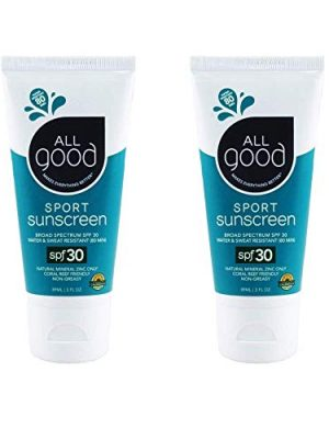 All Good Sport Face & Body Sunscreen Lotion – UVA/UVB Broad Spectrum SPF 50+, Water Resistant, Coral Reef Friendly…