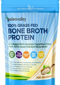 Paleovalley: 100% Grass Fed Bone Broth Protein Powder – Collagen-Rich Ancestral Superfood – 30 Servings – 15g Protein…