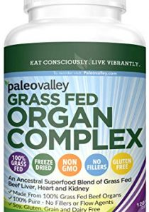 Paleovalley: Grass Fed Organ Complex – Beef Organ Capsules – True Primal Superfoods – Provides B12 Vitamins – Gently…