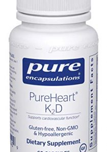 Pure Encapsulations – PureHeart K2D – Hypoallergenic Supplement to Promote Calcium Homeostasis and Cardiovascular…