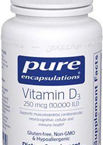 Pure Encapsulations – Vitamin D3 250 mcg (10,000 IU) – Hypoallergenic Support for Bone, Breast, Prostate, Cardiovascular…