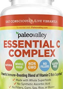 Paleovalley: Essential C Complex – Vitamin C Food Supplement with Organic Superfoods for Immune Support – 1 Pack – 450…