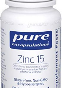 Pure Encapsulations – Zinc 15 – Zinc Picolinate (15 mg.) Highly Absorbable Hypoallergenic Supplement for Immune Support…