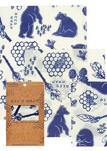 Bee's Wrap Assorted 3 Pack, Made in USA, Eco Friendly Reusable Beeswax Food Wraps, Sustainable, Zero Waste, Plastic Free…