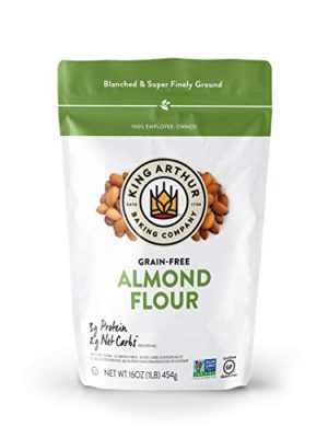 King Arthur, Almond Flour, Certified Gluten-Free, Non-GMO Project Verified, Certified Kosher, Finely Ground, 16 Ounces