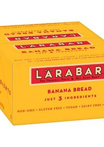 Larabar Gluten Free Bar, Banana Bread, 1.6 oz Bars (16 Count), Whole Food Gluten Free Bars, Dairy Free Snacks