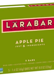 Larabar Fruit and Nut Bar Apple Pie, Gluten Free, Vegan, Whole 30 Compliant, 1.6 oz Bars (5 Count)
