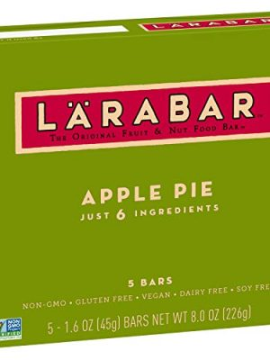 Larabar Fruit and Nut Bar Apple Pie, Gluten Free, Vegan, Whole 30 Compliant, 1.6 oz Bars (5 Count)