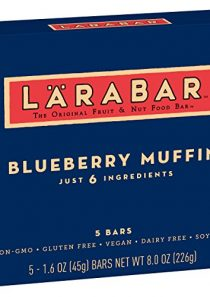 Larabar Gluten Free Bar, Blueberry Muffin, 1.6 oz Bars (5 Count), Whole Food Gluten Free Bars, Dairy Free Snacks
