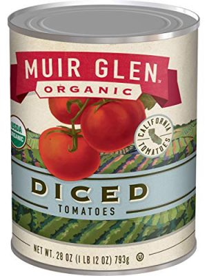 Muir Glen Canned Tomatoes, Organic Diced Tomatoes, No Sugar Added, 28 Ounce Can