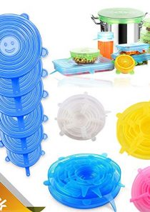 24PCS-Silicone Stretch Lids, Reusable Durable and Expandable Cover,4 Colors of 6 Sizes,Food Covers for Bowl Cup,Various…