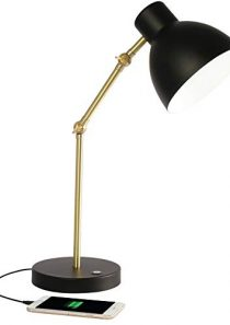 OttLite Adapt LED Desk Lamp with USB Port – Office, Bedroom, Crafts, Reading