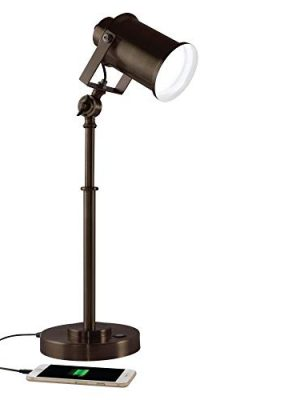OttLite Restore LED Desk Lamp with 2.1A USB Port, Bronze