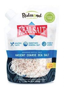 Redmond Real Sea Salt – Natural Unrefined Organic Gluten Free Coarse, 16 Ounce Pouch (1 Pack)