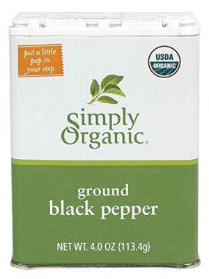Simply Organic Black Pepper, Certified Organic | 4 oz