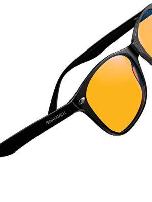 Swanwick: Classic Night Swannies – Premium Blue Light Blocking Glasses – Orange Tint for Superior Blue Light Blocking…