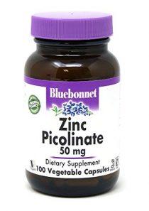 Bluebonnet Nutrition Zinc Picolinate 50 mg Vegetable Capsules, Best for Hormonal & Immune Health, Prostate Health, Skin…