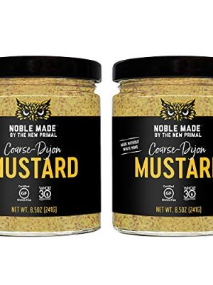 Noble Made by The New Primal, Coarse-Dijon Mustard, Whole30 Approved, Gluten Free, Sugar Free, Paleo, Keto, Vegan, Made…