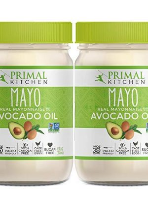 Primal Kitchen – Avocado Oil Mayo, Dairy Free, Whole30 and Paleo Approved (12 oz) – Two Pack