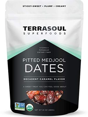 Terrasoul Superfoods Organic Pitted Medjool Dates, 1.5 Lbs – Pits Removed   Soft Chewy Texture   Sweet Caramel Taste